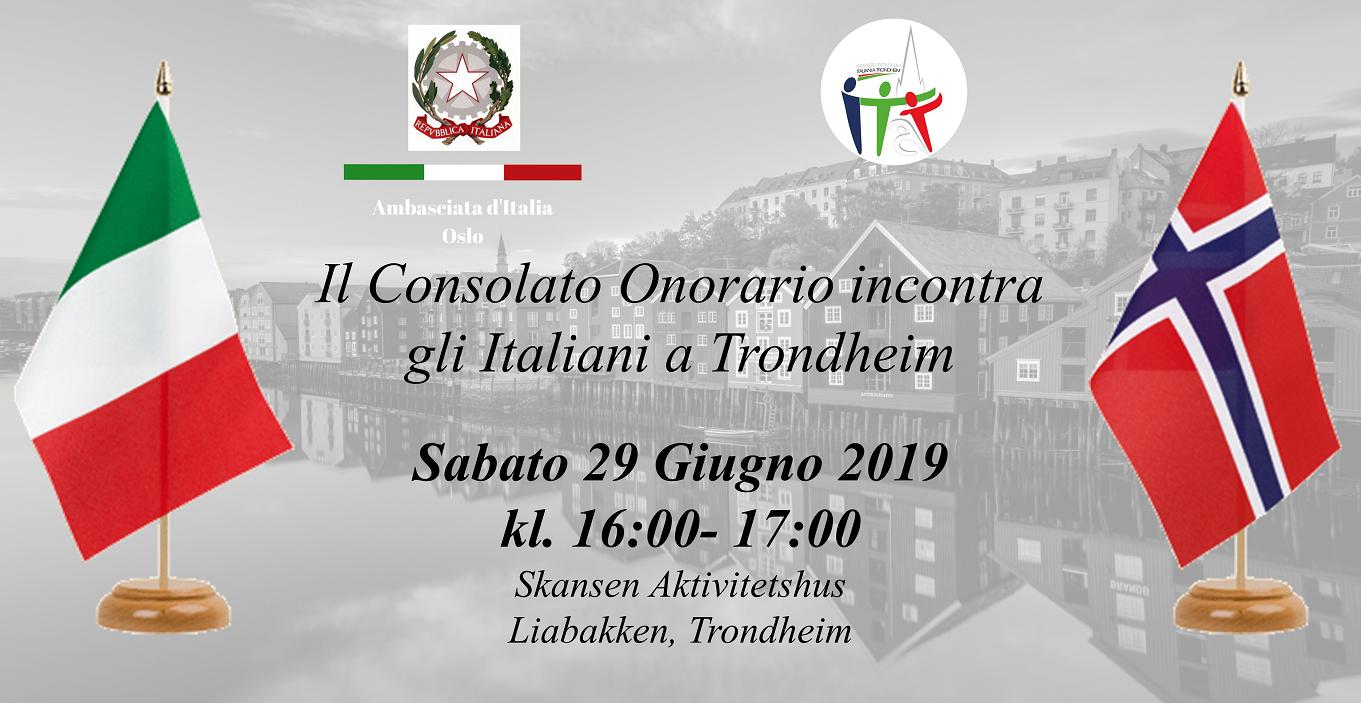 Il Consolato Onorario incontra gli Italiani a Trondheim