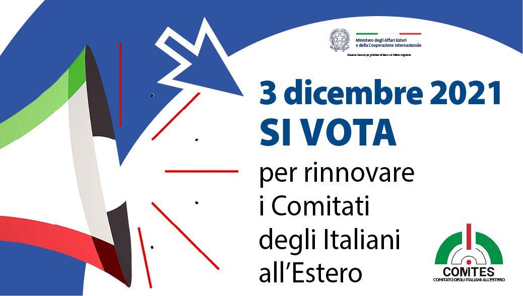 Vuoi votare per il rinnovo del Comites? Hai fino al 3 Novembre per registrarti sugli elenchi elettorali!
